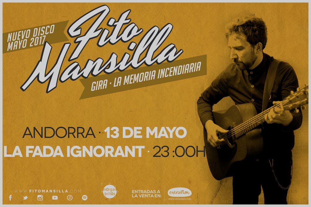 cartell Fito Mansilla La Memoria incendiaria