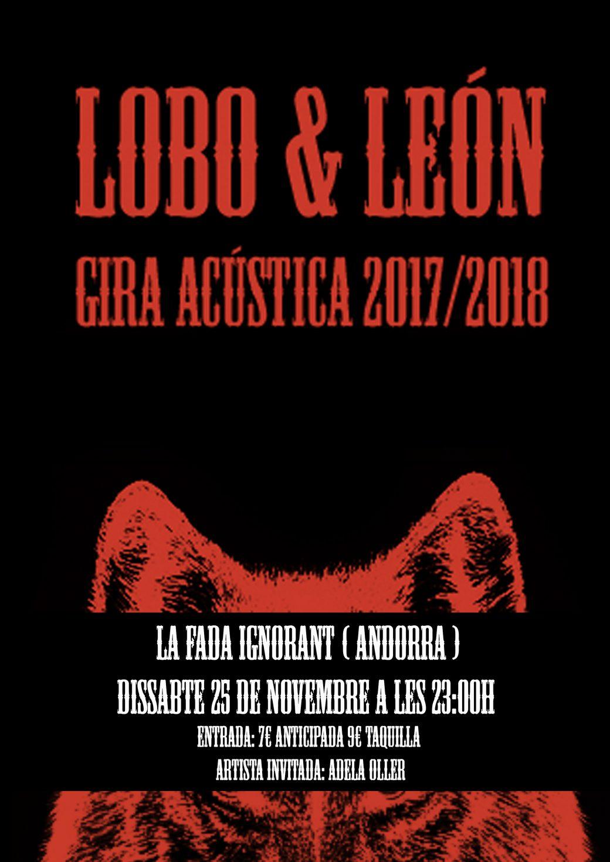 Cartell Lobo : Leon andorra 25 nov 2017-2