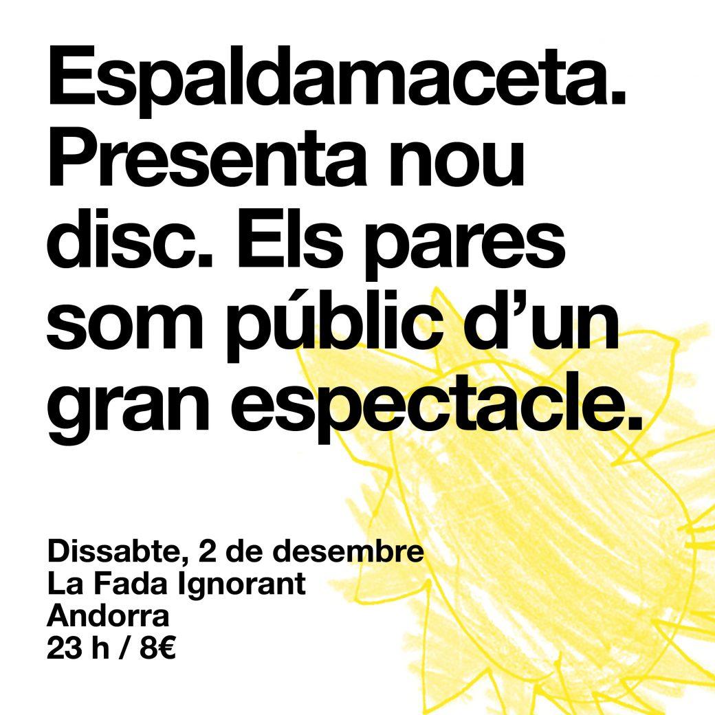 cartell Espaldamaceta andorra